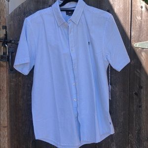 NWT Men's Obey striped shirt size large